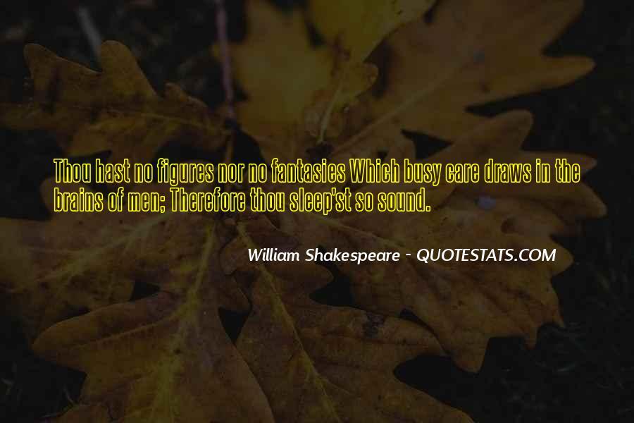 Shakespeare Sleep Quotes #1485790