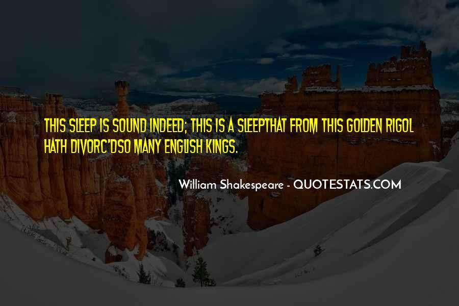 Shakespeare Sleep Quotes #158848