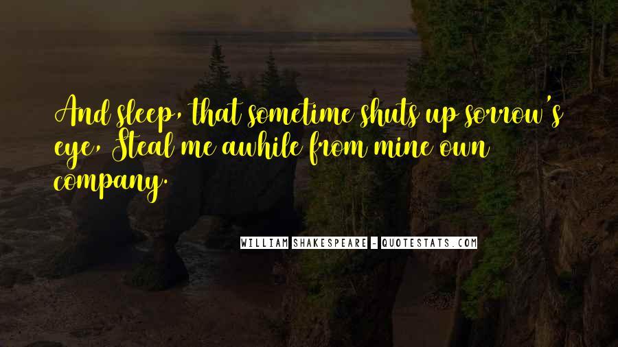Shakespeare Sleep Quotes #1659180