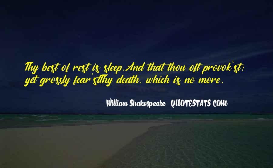Shakespeare Sleep Quotes #1714472