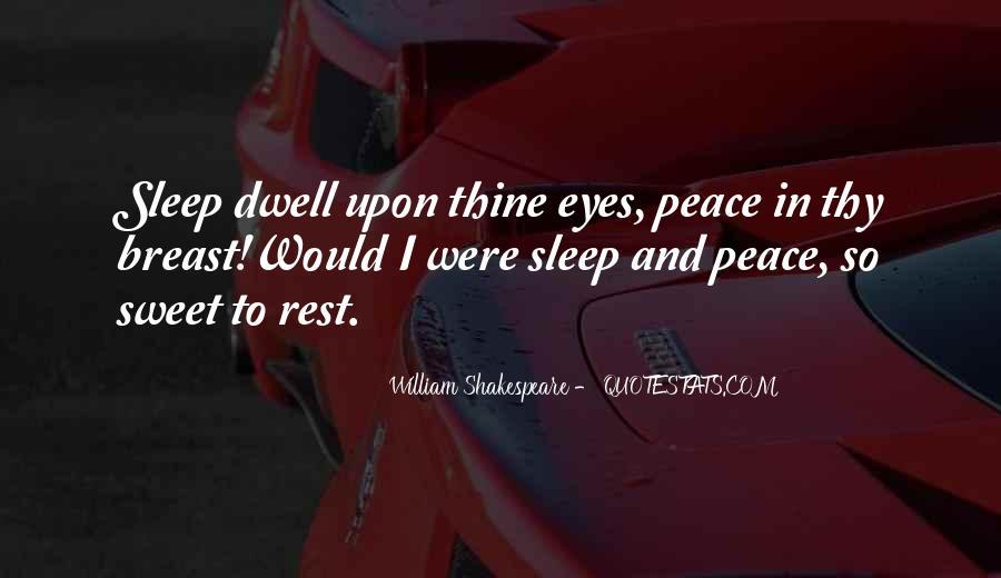 Shakespeare Sleep Quotes #619865