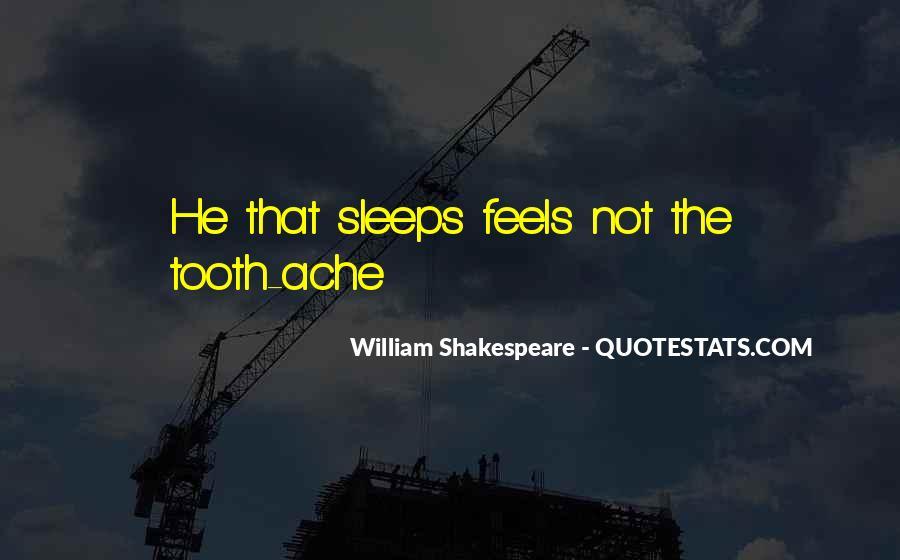 Shakespeare Sleep Quotes #812384