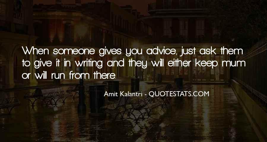 Quotes About Advise #283976