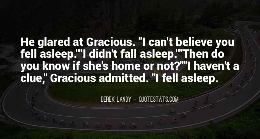 She Fell Asleep Quotes #1022050