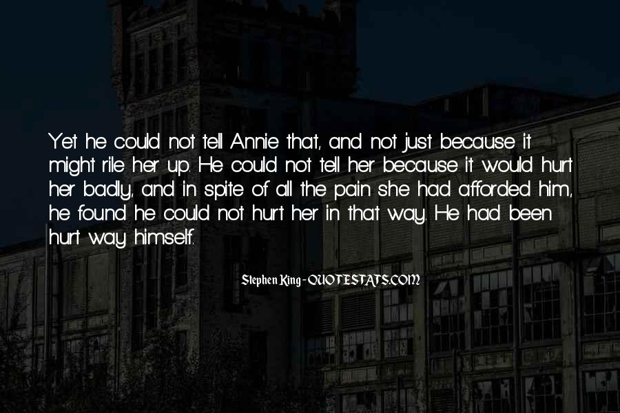 She Hurt Him Quotes #1631912