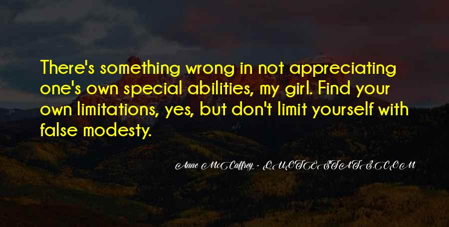 She's A Special Girl Quotes #1094127