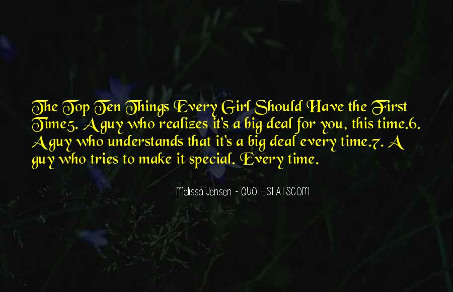 She's A Special Girl Quotes #1270465