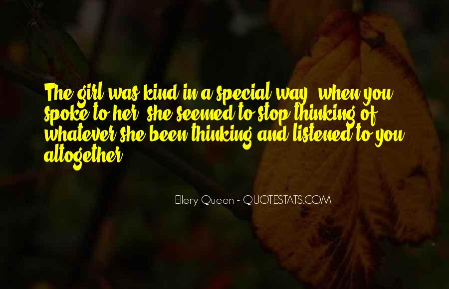 She's A Special Girl Quotes #898297