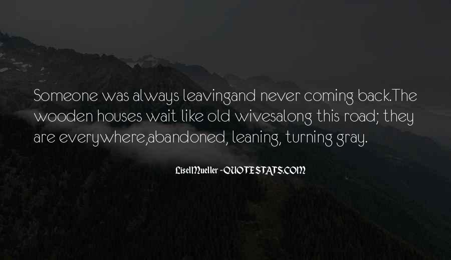 She's Leaving Soon Quotes #14275