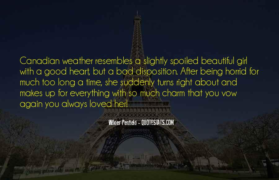 She's Too Beautiful Quotes #537