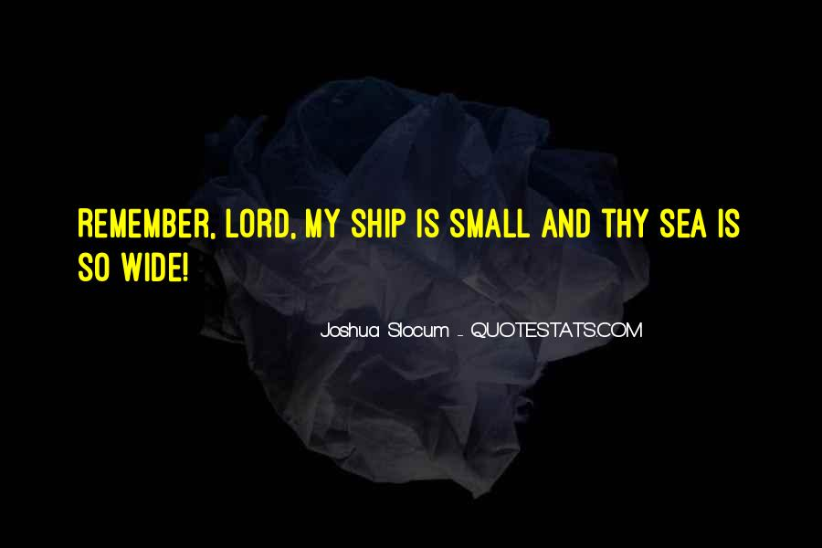 Ship And Sea Quotes #1159503