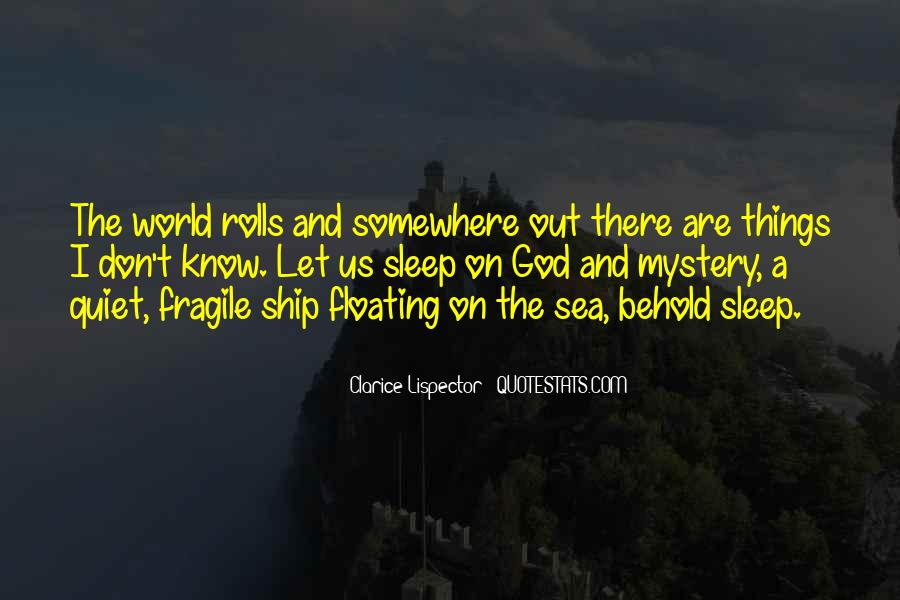 Ship And Sea Quotes #1602887