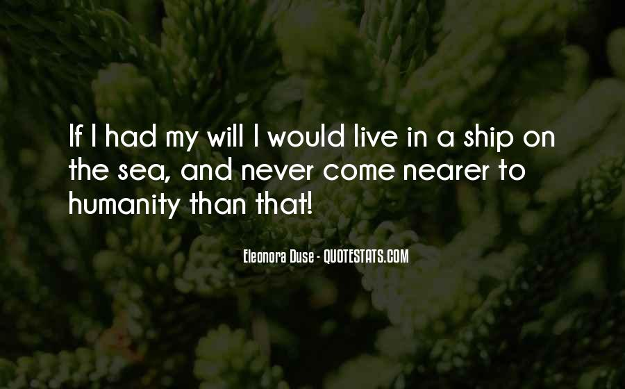 Ship And Sea Quotes #1640344