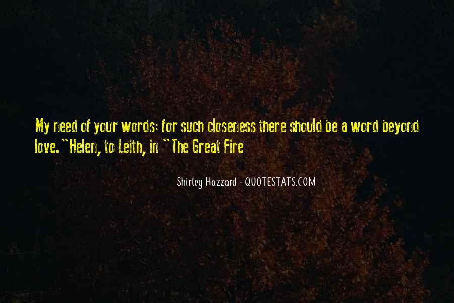 Shirley Hazzard The Great Fire Quotes #515851