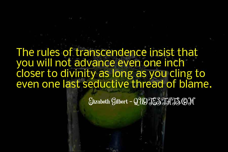 Quotes About Transcendence #27249