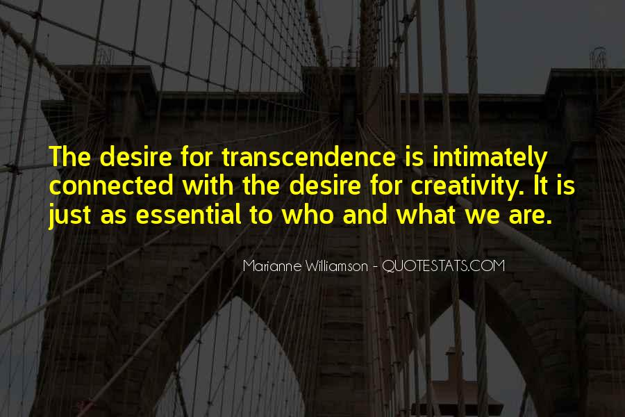 Quotes About Transcendence #489895