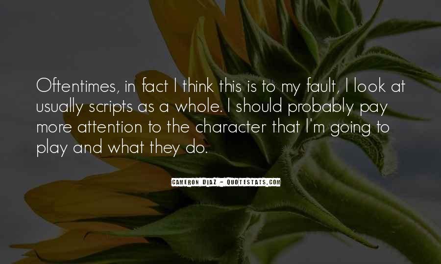 Quotes About Cameron Diaz #81318