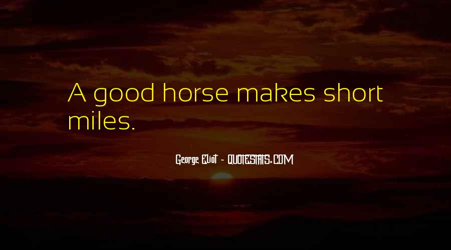 Short Horse Quotes #7887
