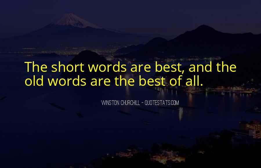 Short Words Quotes #254928