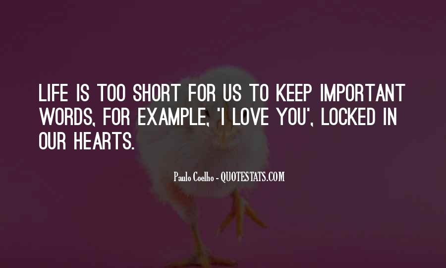 Short Words Quotes #897665