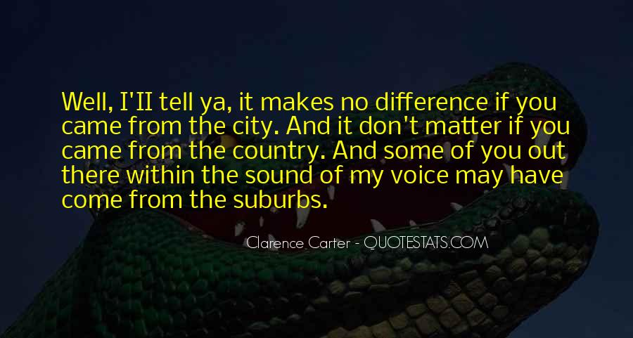 Quotes About Suburbs #296965