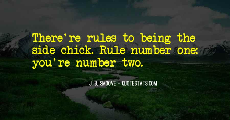 Side Chick Rules Quotes #105736