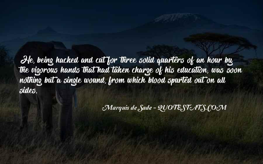 Quotes About Marquis De Sade #210570