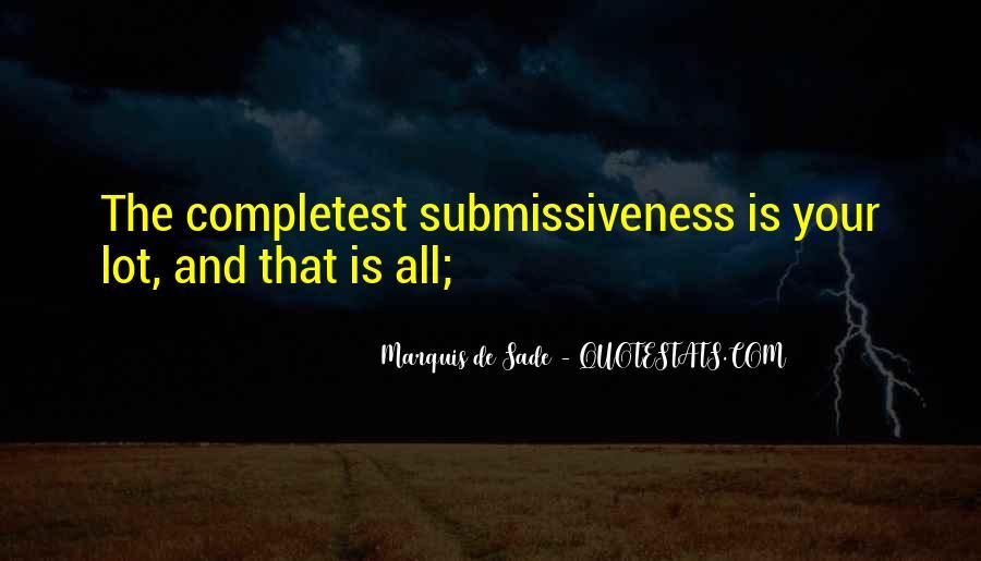 Quotes About Marquis De Sade #435443