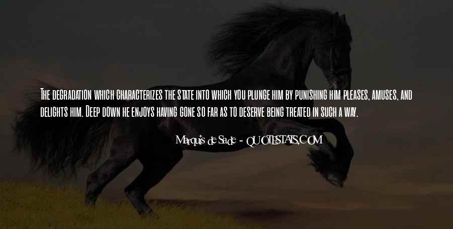 Quotes About Marquis De Sade #583178