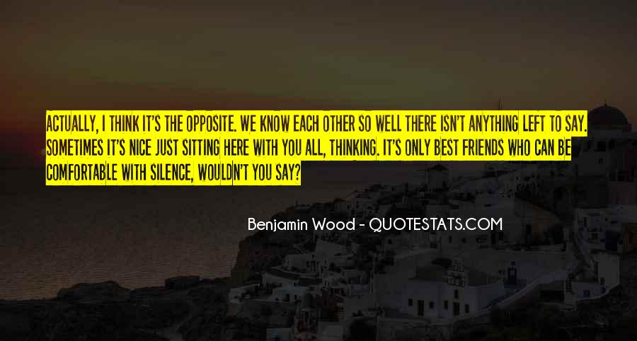 Silence And Friends Quotes #1196279