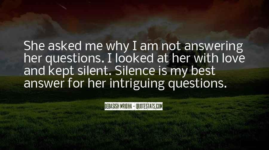 Silence Best Answer Quotes #1435905