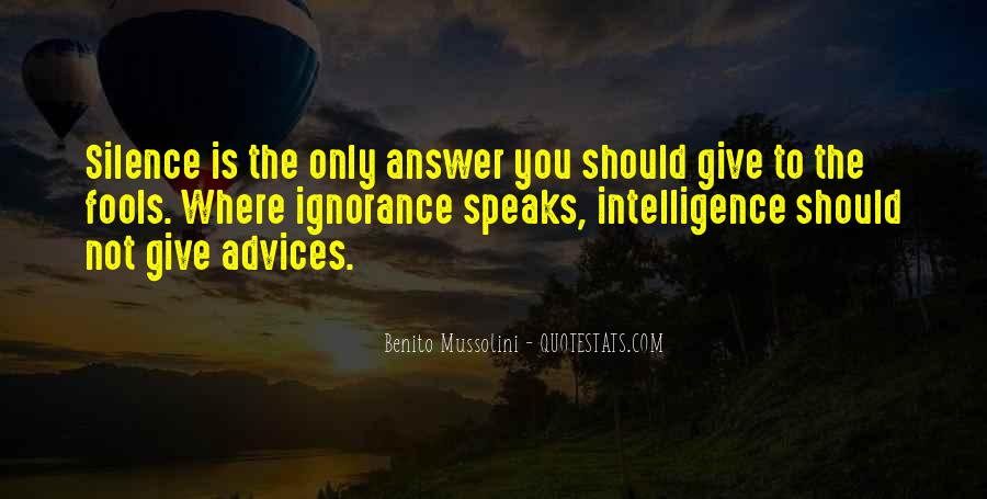 Silence Best Answer Quotes #213720