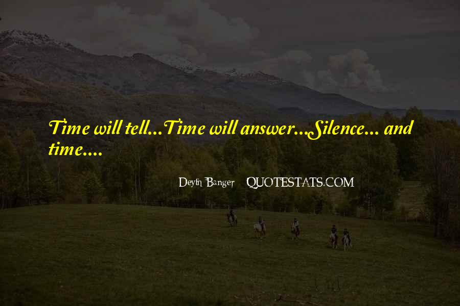 Silence Best Answer Quotes #217450