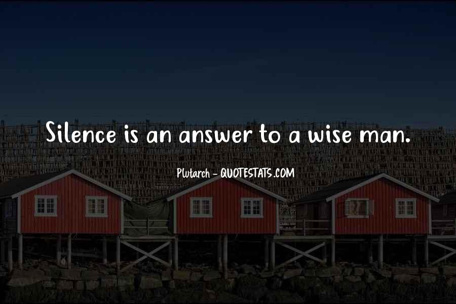 Silence Best Answer Quotes #425241