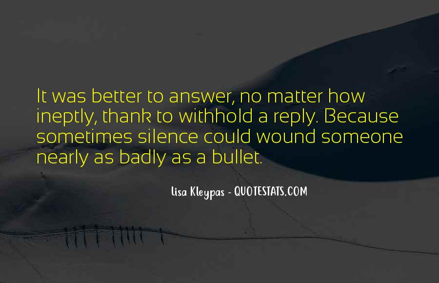 Silence Best Answer Quotes #439792