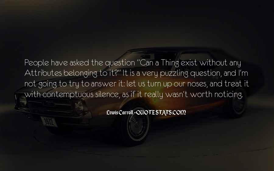 Silence Best Answer Quotes #601563