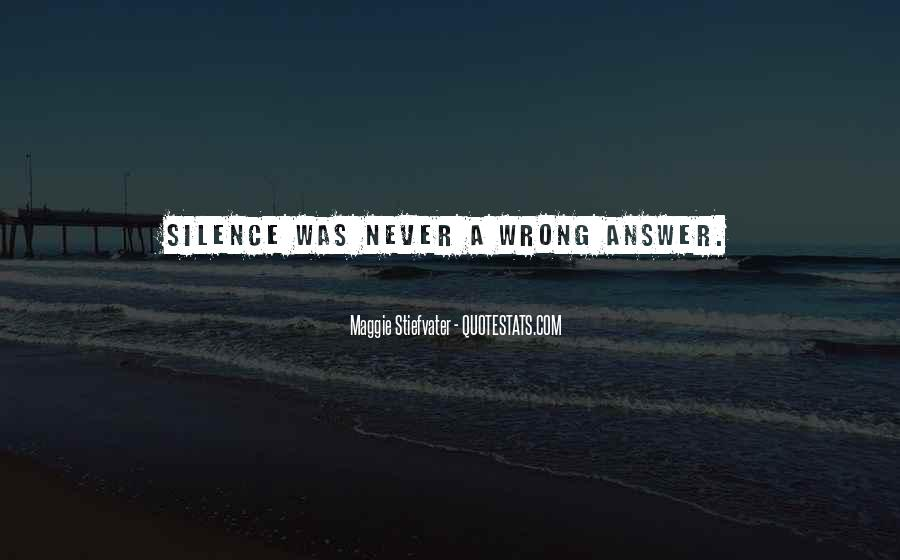 Silence Best Answer Quotes #664229