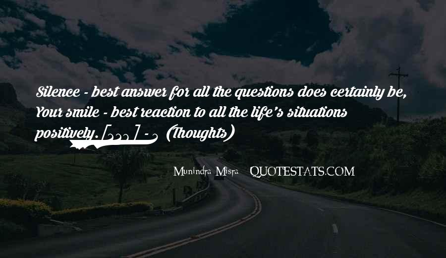Silence Best Answer Quotes #710683