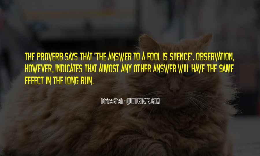 Silence Best Answer Quotes #720176
