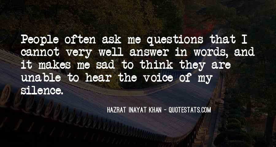 Silence Best Answer Quotes #737061