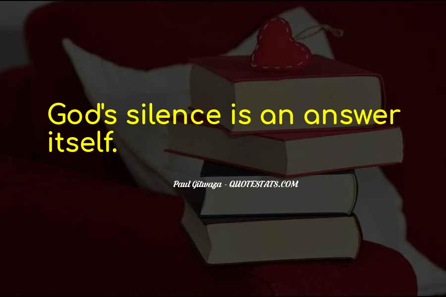 Silence Best Answer Quotes #760524