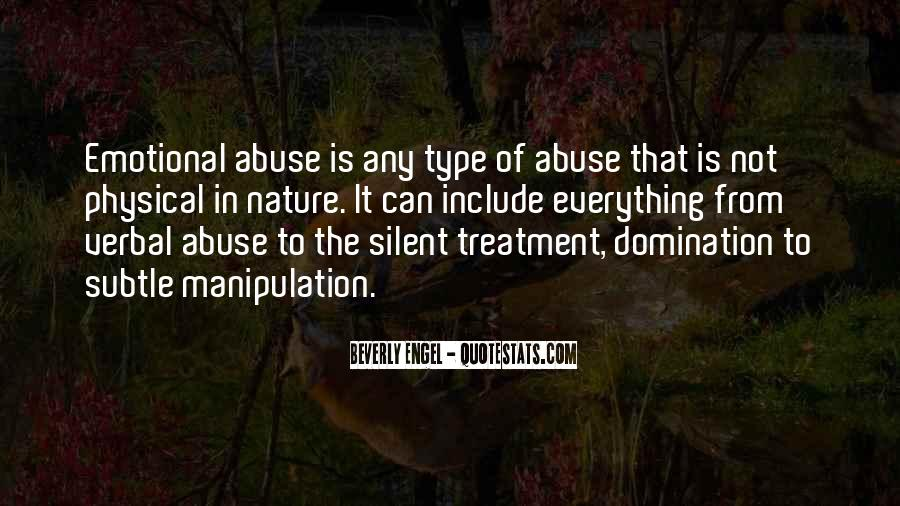 Silent Treatment Abuse Quotes #713040