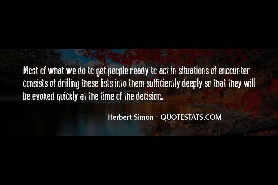 Simon Herbert Quotes #1627339