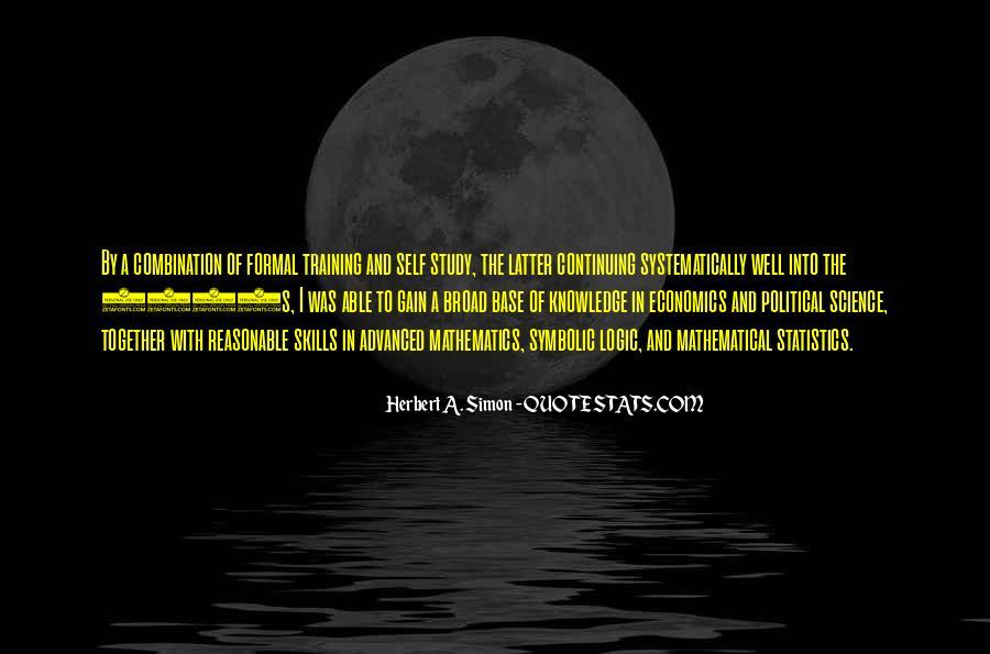 Simon Herbert Quotes #300754