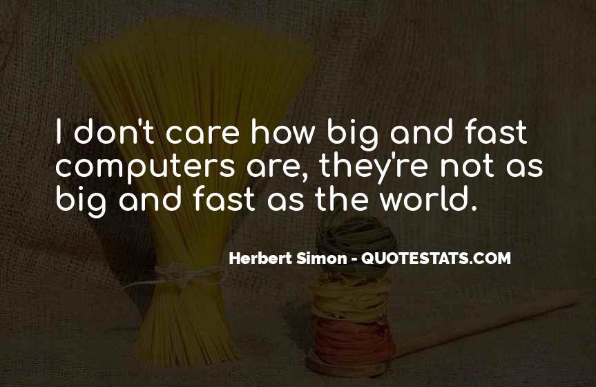 Simon Herbert Quotes #35903