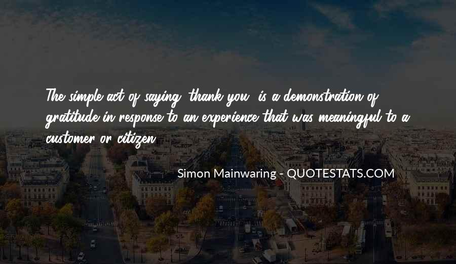 Simple Thank You Quotes #390095