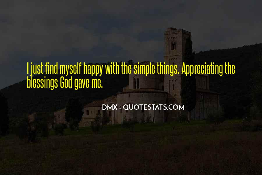 Simple Things Happy Quotes #1014051