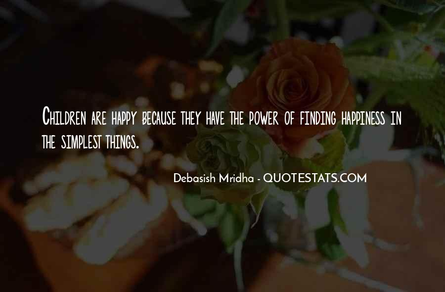 Simple Things Happy Quotes #1165980