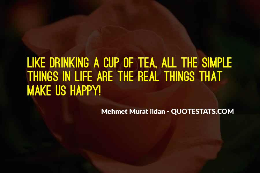 Simple Things Happy Quotes #120337