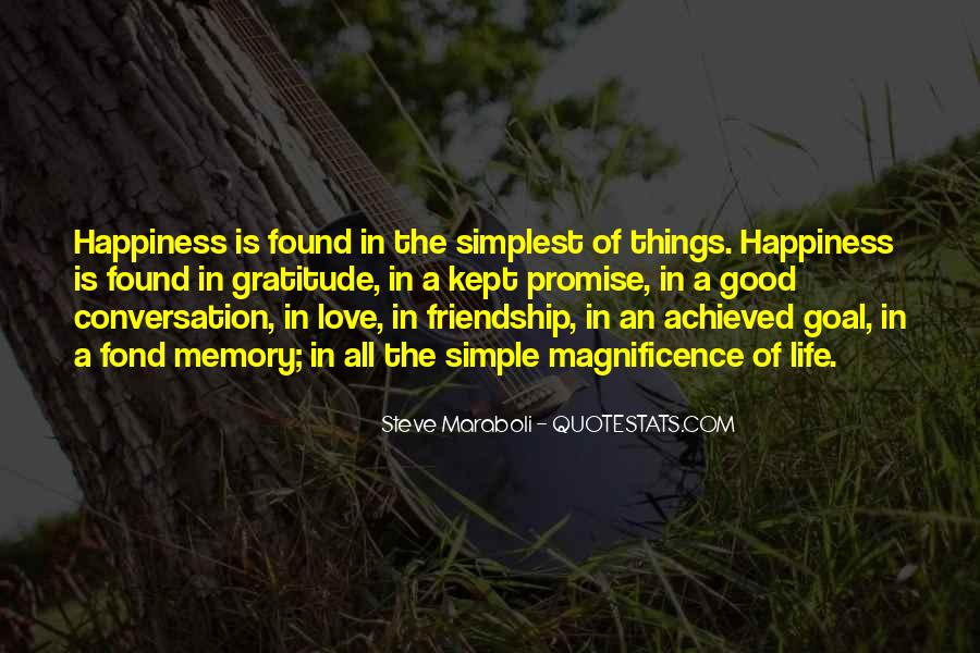 Simple Things Happy Quotes #1443053